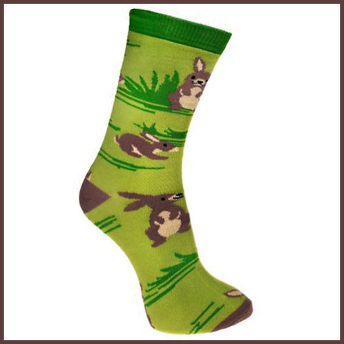 Bamboo Socks Rabbits Size 7-11
