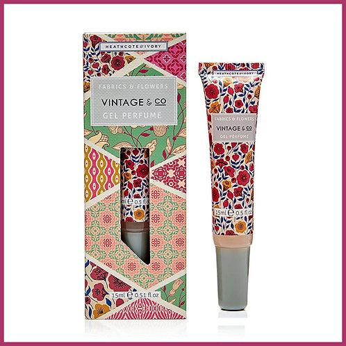 Vintage Fabric & Flowers Gel Perfume 15ml