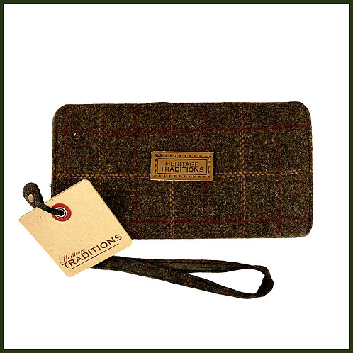 Heritage Traditions Tweed Purse Green Box