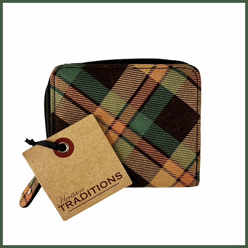 Heritage Traditions Moleskin Effect Purse Green