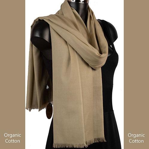 Organic Cotton Pashmina Khaki