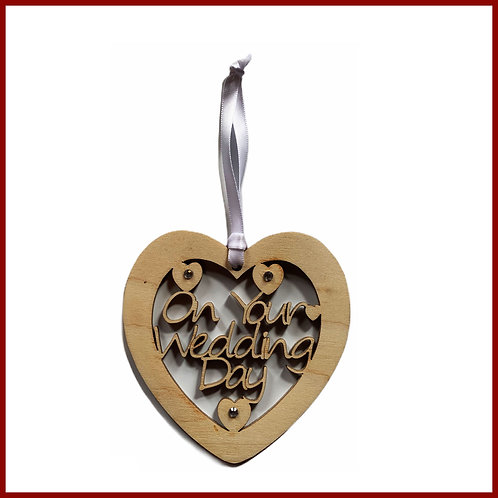 Welsh Fretwork Heart Wedding Day
