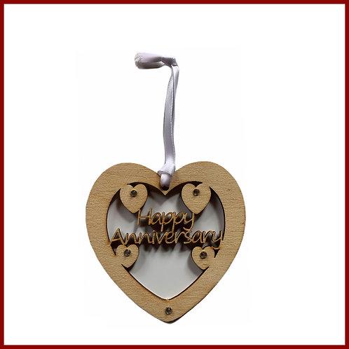 Welsh Fretwork Heart Happy Anniversary