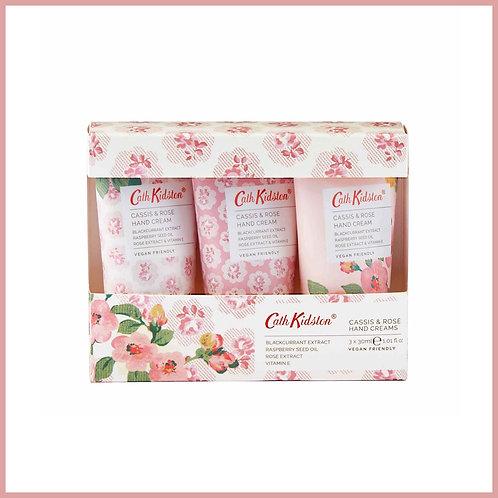 Cath Kidston Cassis & Rose Hand Cream Trio