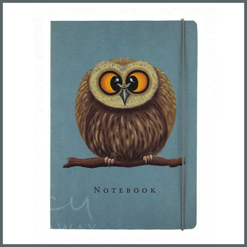Lucy Pittaway A5 Notebook Owl & Bee