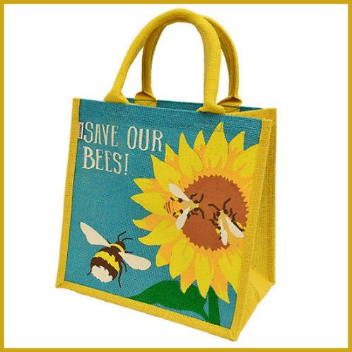 Jute Shopping Bag Save Our Bees