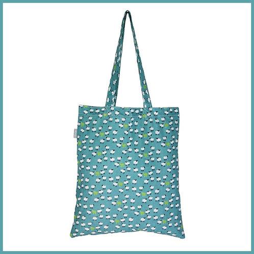 Sheep Cotton Shopping Bag Aqua