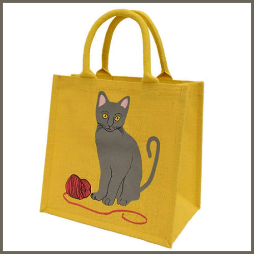 Jute Shopping Bag Cat & Wool