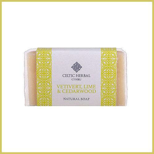 Handmade Natural Soap Vetivert, Lime & Cedarwood