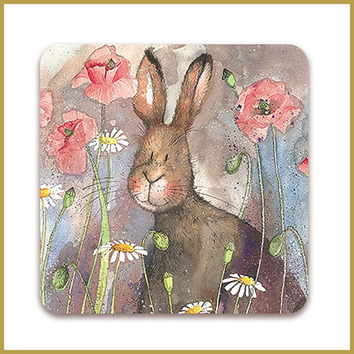 Alex Clark Coaster C46 Hare & Poppies