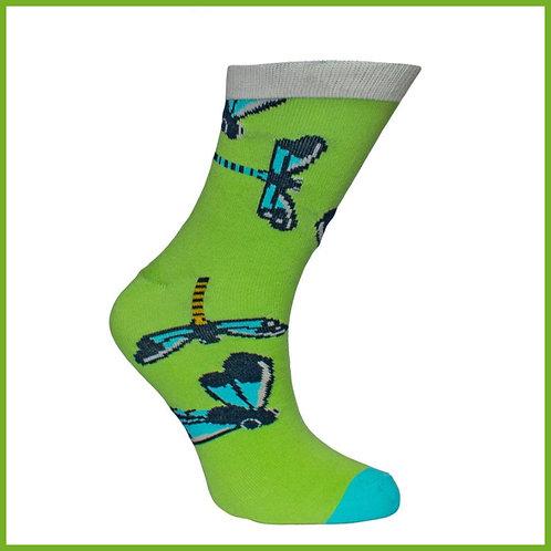 Bamboo Socks Damselflies Size 3-7