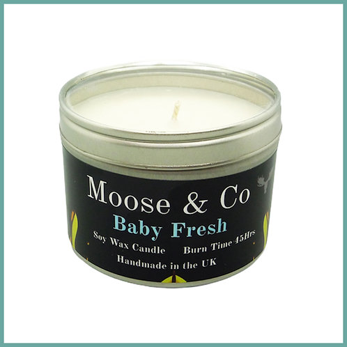 Moose & Co Soy Candle Large Baby Fresh