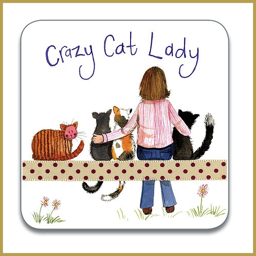 Alex Clark Coaster C153 Crazy Cat Lady