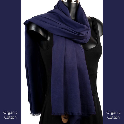 Organic Cotton Pashmina Navy
