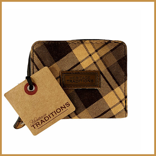 Heritage Traditions Moleskin Effect Purse Brown