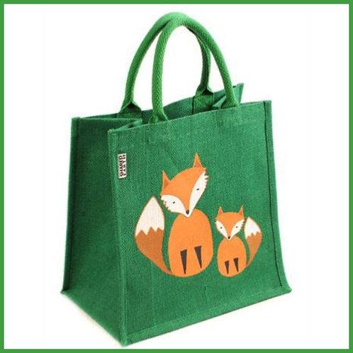 Jute Shopping Bag Fox