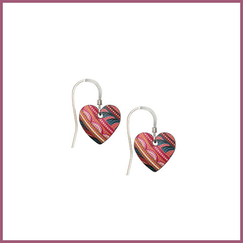 Tiger Lily Small Heart Earrings