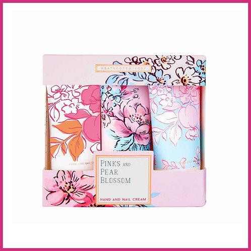 Pinks & Pear Blossom Hand Cream Trio