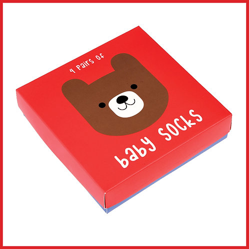 Bruno The Bear Baby Socks 4 Pairs