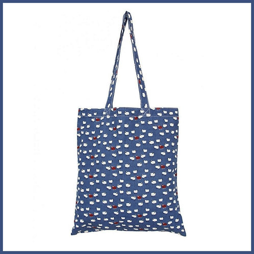 Sheep Cotton Shopping Bag Denim