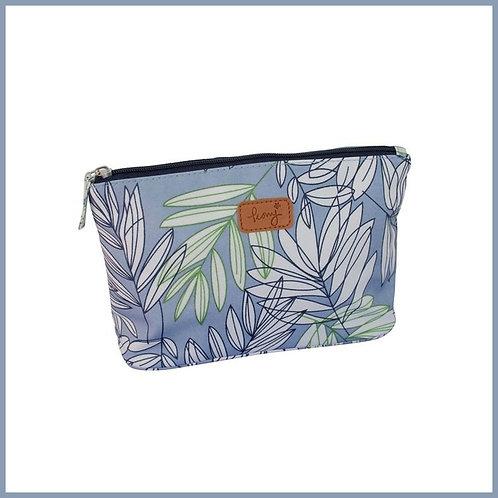 Garden Fern Make Up Bag Blue
