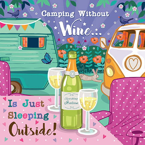 Camping Without Wine Card