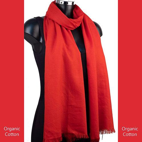 Organic Cotton Pashmina Red