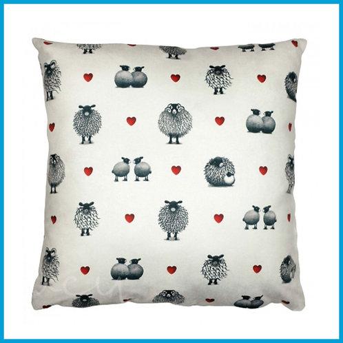 Lucy Pittaway Cushion Black & White Sheep