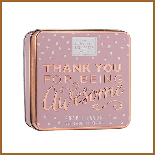 Soap in a Tin Sweet Sayings Awesome 100g