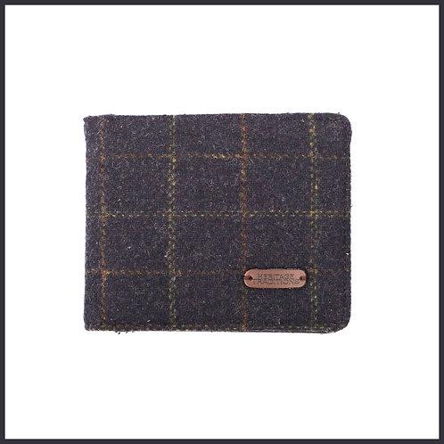 Heritage Traditions Tweed Wallet Blue Box