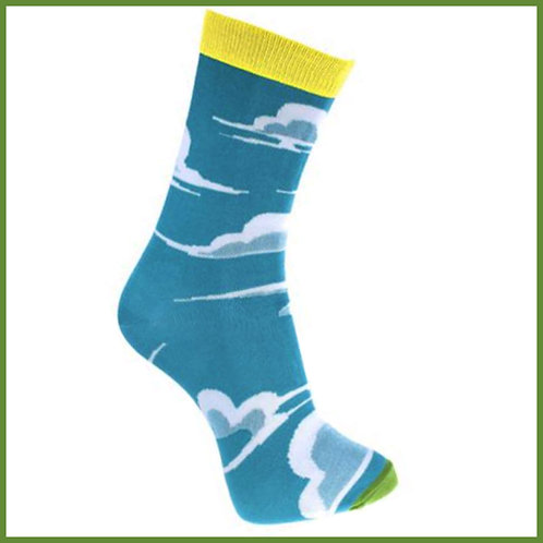 Bamboo Socks Clouds Size 7-11