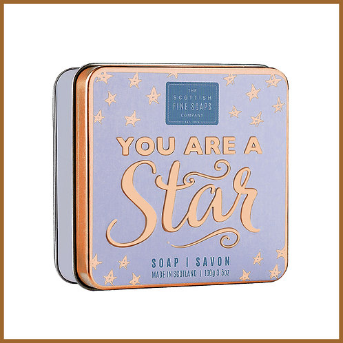 Soap in a Tin Sweet Sayings Star 100g