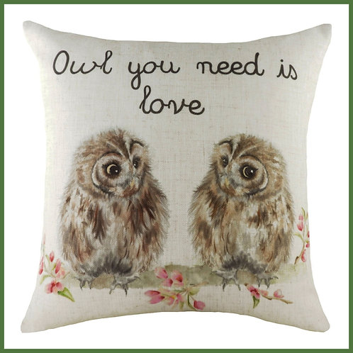 Hedgerow Cushion Owl You Need