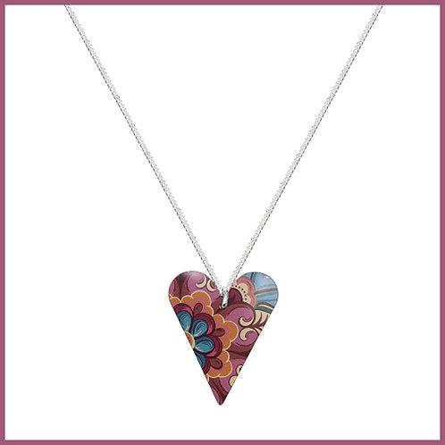 Tiger Lily Medium Heart Necklace