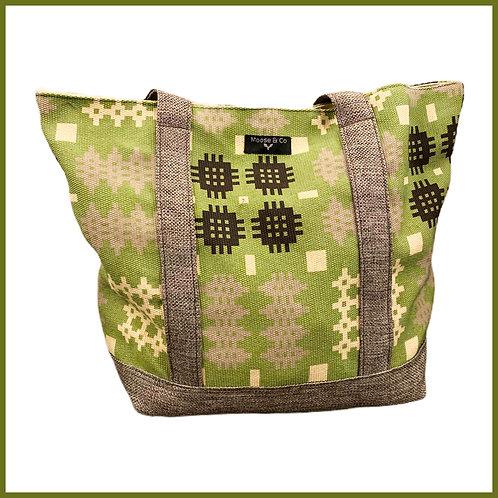 Welsh Tapestry Print Shoulder Bag Green