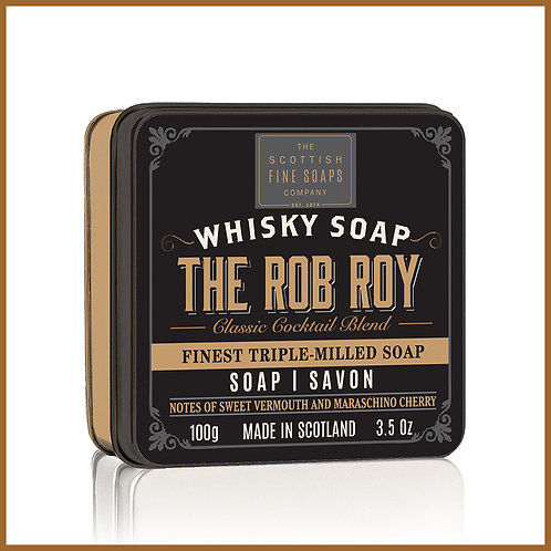 Soap in a Tin Whisky Cocktail Rob Roy 100g