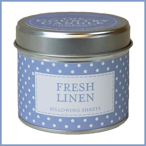 Polkadot Candle Fresh Linen