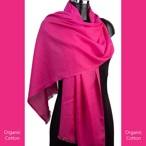 Organic Cotton Pashmina Cerise