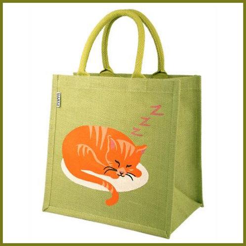 Jute Shopping Bag Cat