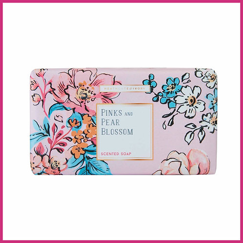 Pinks & Pear Blossom Scented Soap