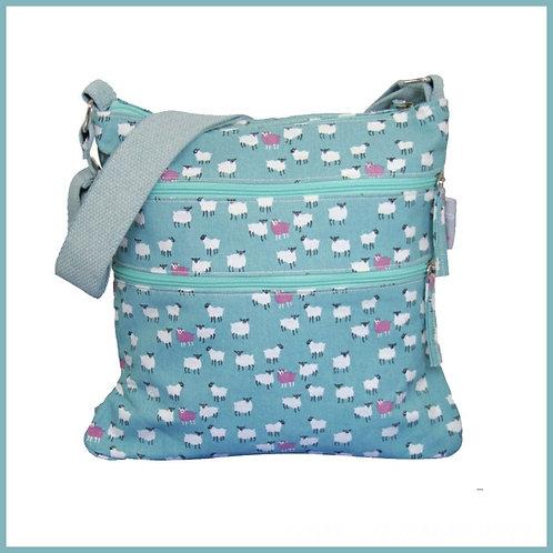 Sheep Range Cross Body Bag Blue