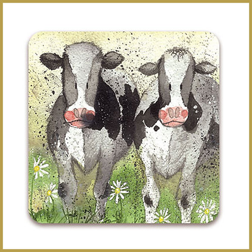 Alex Clark Coaster C34 Curious Cows