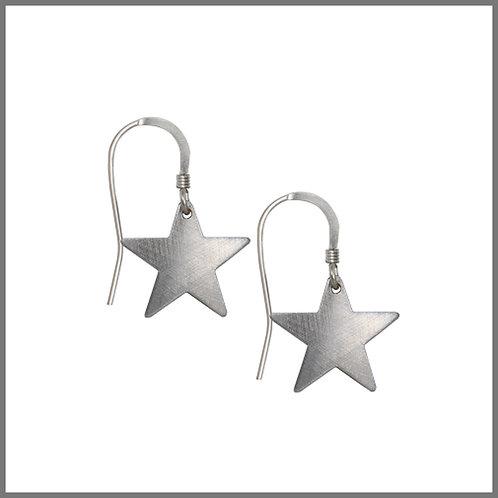 Aluminium Star Earrings