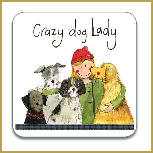 Alex Clark Coaster C154 Crazy Dog Lady