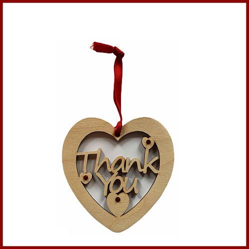 Welsh Fretwork Heart Thank you