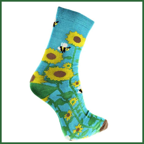 Bamboo Socks Sunflowers
