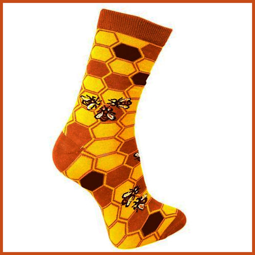 Bamboo Socks Bees Size 7-11