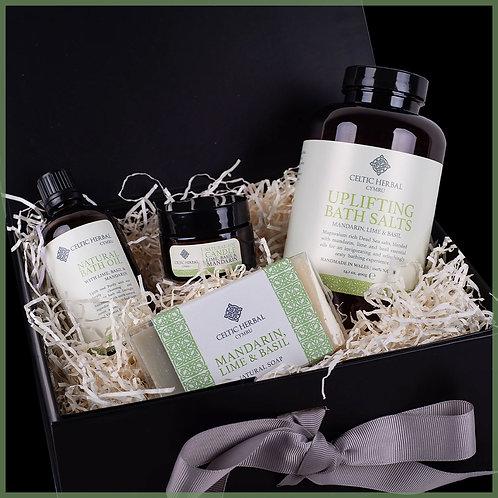 Uplifting Gift Box With Mandarin, Lime & Basil