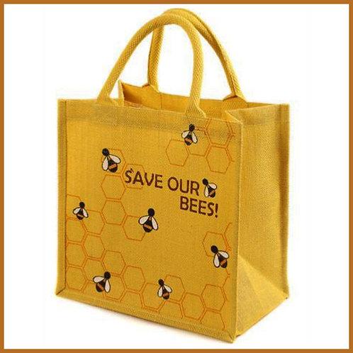 Jute Shopping Bag Bees
