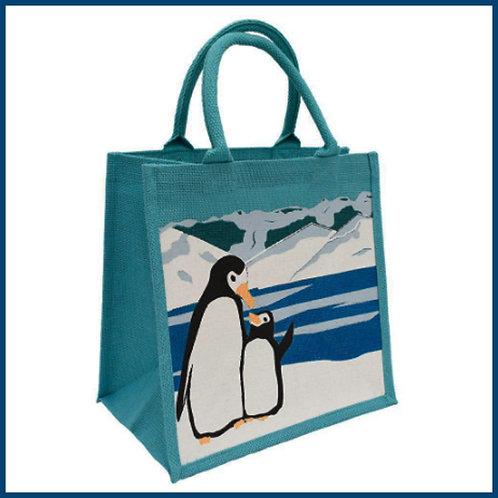 Jute Shopping Bag Penguin & Chick